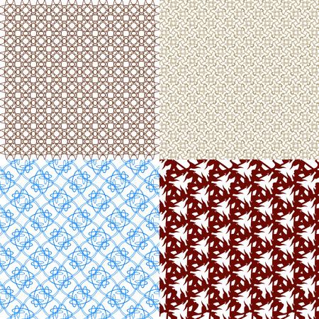 filling line: Set of  geometric pattern in op art design.  illustration art