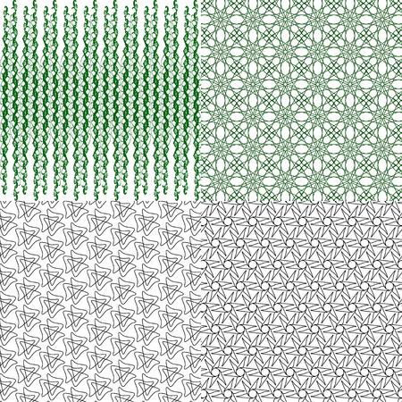 iteration: Set of  geometric pattern in op art design.  illustration art