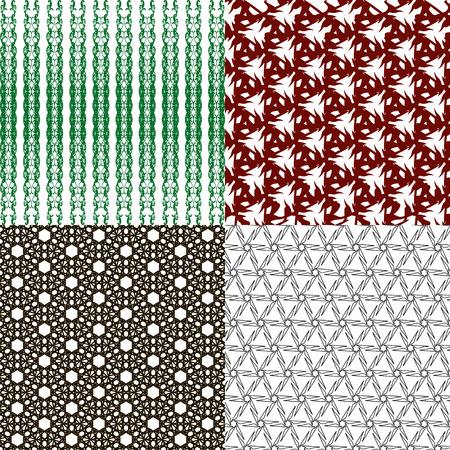 latticed: Set of  geometric pattern in op art design.  illustration art