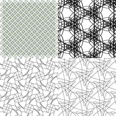 stripes pattern: Set of  geometric pattern in op art design.  illustration art
