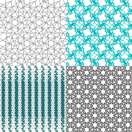 mishmash: Set of  pattern. Modern stylish texture. Repeating abstract background.  illustration Stock Photo