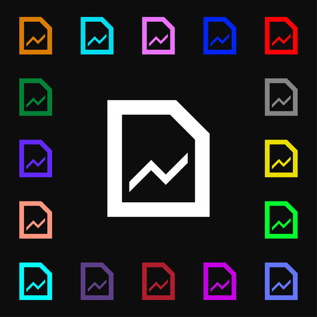 upturn: Growth and development concept. graph of Rate  icon sign. Lots of colorful symbols for your design. Vector illustration