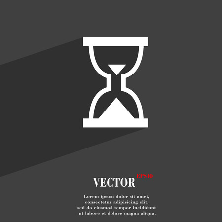 sand timer: Hourglass, Sand timer  icon symbol Flat modern web design with long shadow and space for your text. Vector illustration