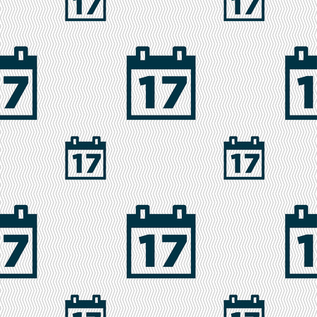reminder icon: Calendar, Date or event reminder icon sign. Seamless pattern with geometric texture. Vector illustration