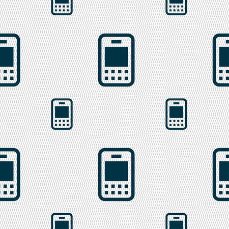 telecommunications technology: Mobile telecommunications technology icon sign. Seamless pattern with geometric texture. Vector illustration
