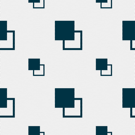 photoshop: Active color toolbar icon sign. Seamless pattern with geometric texture. Vector illustration