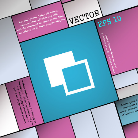photoshop: Active color toolbar  icon sign. Modern flat style for your design. Vector illustration