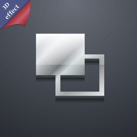 photoshop: Active color toolbar  icon symbol. 3D style. Trendy, modern design with space for your text Vector illustration