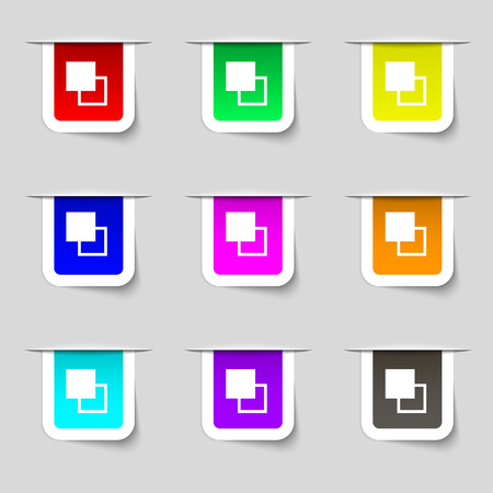 photoshop: Active color toolbar icon sign. Set of multicolored modern labels for your design. Vector illustration