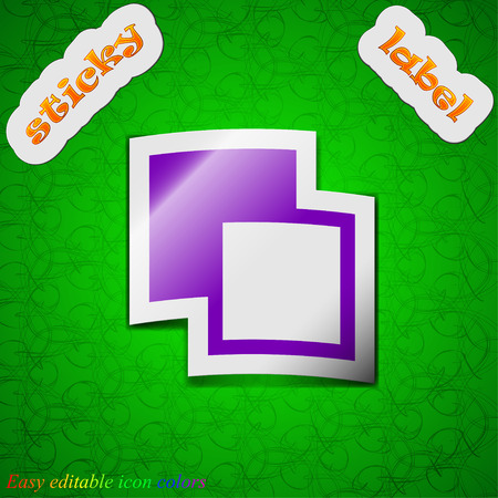 photoshop: Active color toolbar  icon sign. Symbol chic colored sticky label on green background. Vector illustration