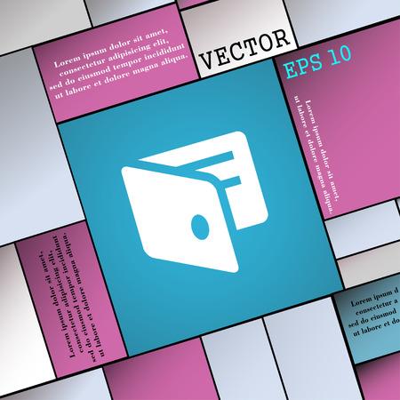 business card holder: eWallet, Electronic wallet, Business Card Holder  icon sign. Modern flat style for your design. Vector illustration