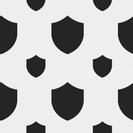 security token: Shield, Protection icon sign. Seamless pattern with geometric texture. Vector illustration