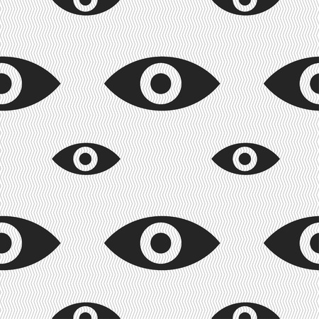 sixth sense: Eye, Publish content, sixth sense, intuition icon sign. Seamless pattern with geometric texture. Vector illustration