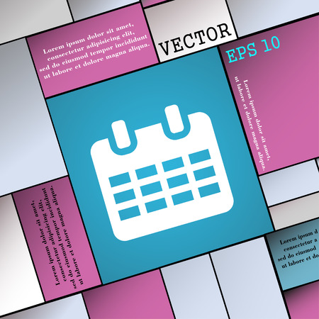 event planning: Calendar, Date or event reminder   icon sign. Modern flat style for your design. Vector illustration