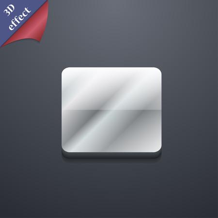 boton stop: detener bot�n icono de s�mbolo. Plantillas en 3D. Dise�o de moda, moderno, con espacio para el texto Ilustraci�n vectorial Vectores