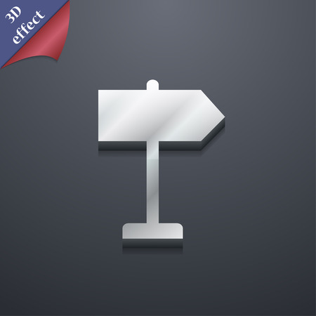 designator: Signpost icon symbol. 3D style. Trendy, modern design with space for your text Vector illustration