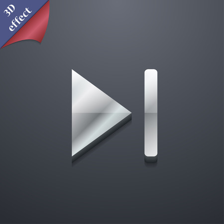 rewind: next track  icon symbol. 3D style. Trendy, modern design with space for your text Vector illustration