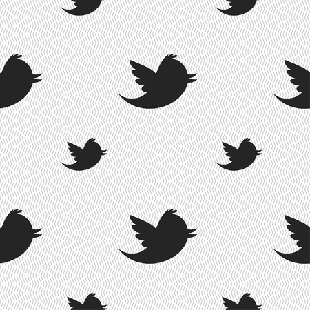 twitter: Social media, messages twitter retweet icon sign. Seamless pattern with geometric texture. Vector illustration