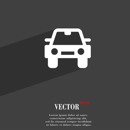 racing sign: Auto  icon symbol Flat modern web design with long shadow and space for your text. Vector illustration Illustration