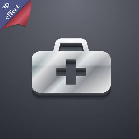 medicine chest: medicine chest  icon symbol. 3D style. Trendy, modern design with space for your text Vector illustration