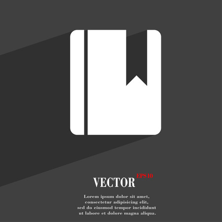 read magazine: book bookmark  icon symbol Flat modern web design with long shadow and space for your text. Vector illustration