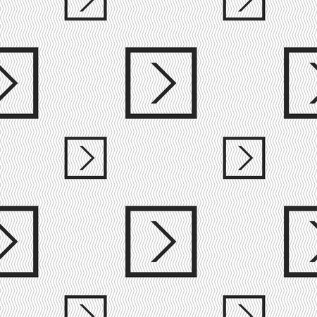 next icon: Arrow right, Next icon sign. Seamless pattern with geometric texture. Vector illustration