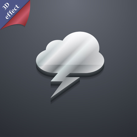 lightnings: storm  icon symbol. 3D style. Trendy, modern design with space for your text Vector illustration