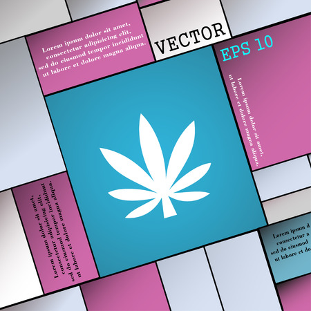 cannabinol: Cannabis leaf  icon sign. Modern flat style for your design. Vector illustration