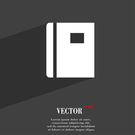 reading app: Book  icon symbol Flat modern web design with long shadow and space for your text. Vector illustration Illustration