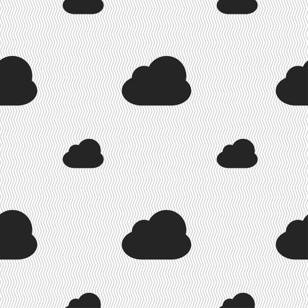 simplus: Nube signo icono. Modelo incons�til con textura geom�trica. Ilustraci�n vectorial Vectores
