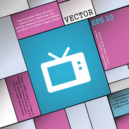 mode: Retro TV mode  icon sign. Modern flat style for your design. Vector illustration