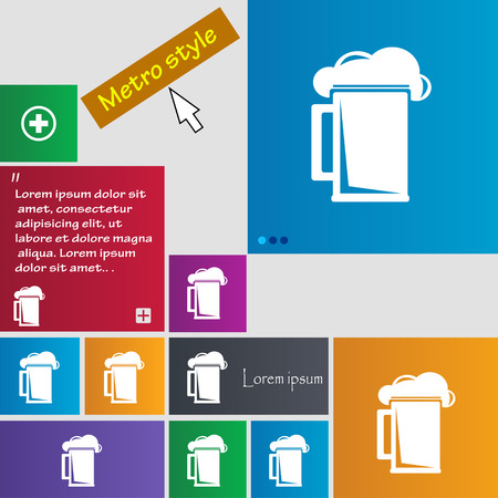 guinness: glass of beer icon sign. buttons. Modern interface website buttons with cursor pointer. Vector illustration