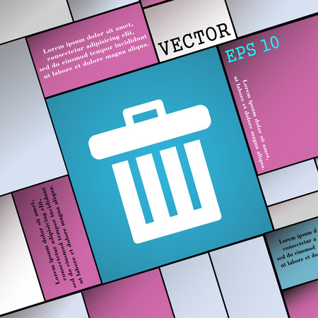 discard: Recycle bin icon sign. Modern flat style for your design. Vector illustration
