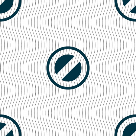 delay: Cancel icon sign. Seamless pattern with geometric texture. Vector illustration