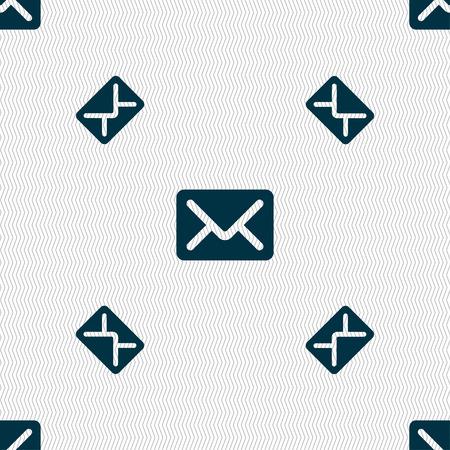 Mail Umschlag Brief Symbol Symbol 3d Stil Trendy Modernes
