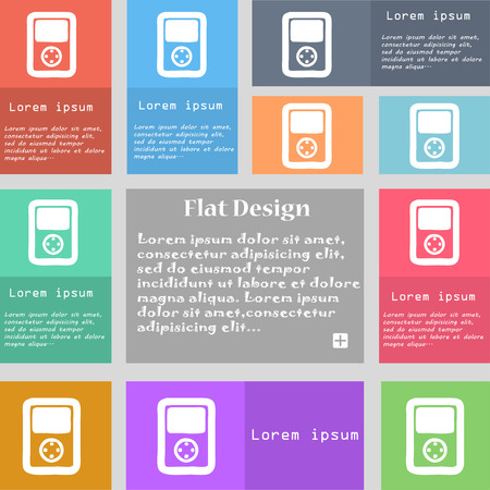 tetris: Tetris, video game console icon sign. Set of multicolored buttons with space for text. Vector illustration