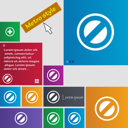 delay: Cancel icon sign. buttons. Modern interface website buttons with cursor pointer. Vector illustration