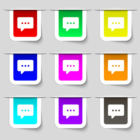 crunches: Cloud of thoughts icon sign. Set of multicolored modern labels for your design. Vector illustration Illustration