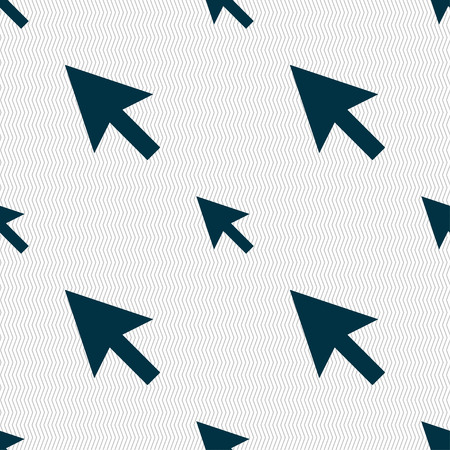 arrow cursor, computer mouse icon sign. Seamless pattern with geometric texture. Vector illustration Vector