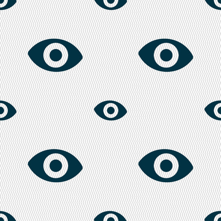 a sense of: sixth sense, the eye icon sign. Seamless pattern with geometric texture. Vector illustration
