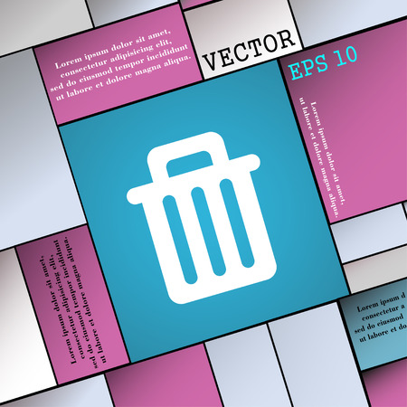 garbage tank: Recycle bin icon sign. Modern flat style for your design. Vector illustration
