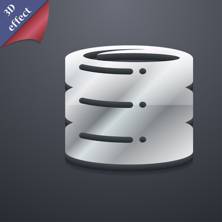 hard drive date base icon symbol. 3D style. Trendy, modern design with space for your text Vector illustration