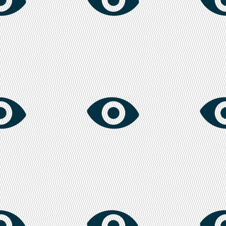 sixth sense: sixth sense, the eye icon sign. Seamless pattern with geometric texture. Vector illustration
