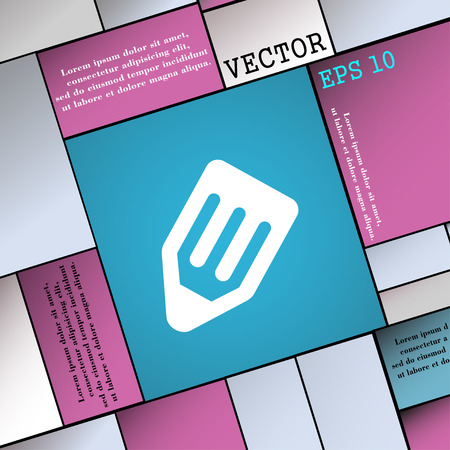 secretarial: pencil icon sign. Modern flat style for your design. Vector illustration Illustration
