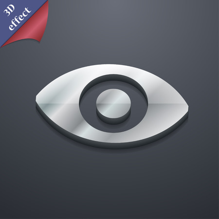 sixth: sixth sense, the eye icon symbol. 3D style. Trendy, modern design with space for your text Vector illustration Illustration