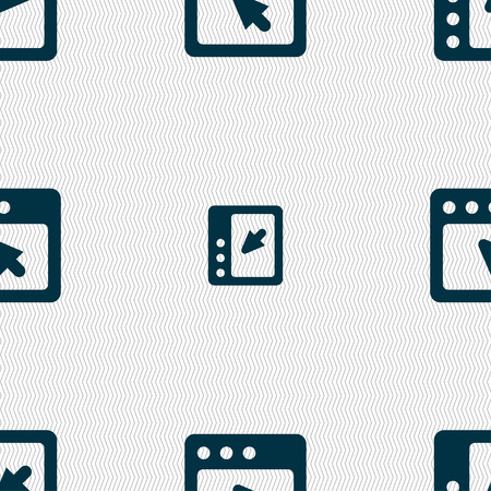 dialog box: the dialog box icon sign. Seamless pattern with geometric texture. Vector illustration