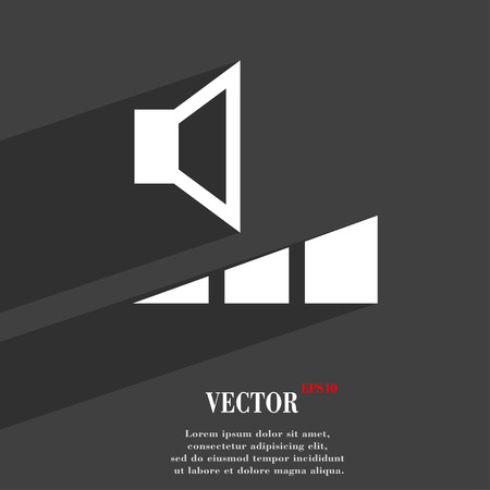 max: volume, sound  icon symbol Flat modern web design with long shadow and space for your text. Vector illustration Illustration