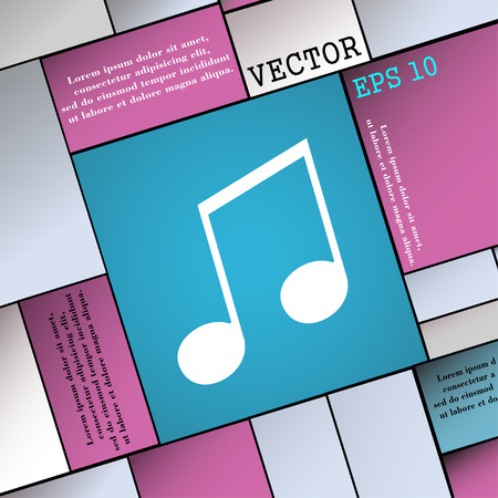 ringtone: musical note, music, ringtone icon sign. Modern flat style for your design. Vector illustration