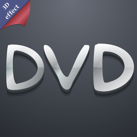 storage data product: dvd icon symbol. 3D style. Trendy, modern design with space for your text Vector illustration