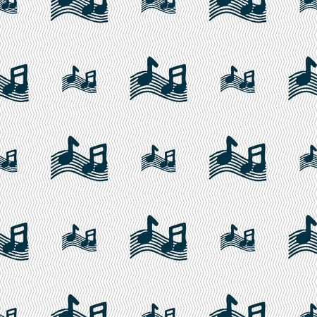 ringtone: musical note, music, ringtone icon sign. Seamless pattern with geometric texture. Vector illustration